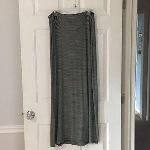 Striped stretchy Maxi skirt
